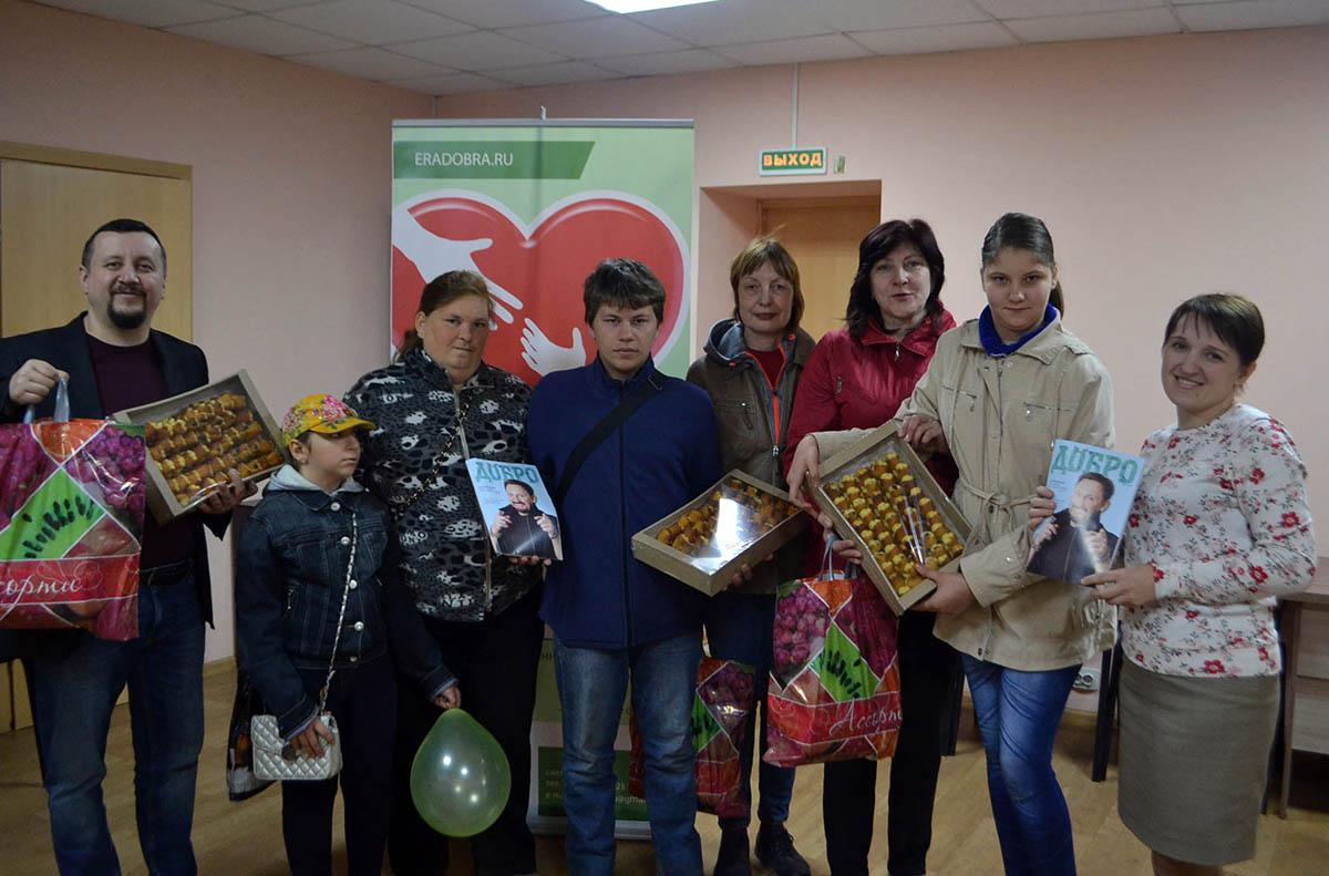 35 пензенских семей с детьми инвалидами получили подарки и продуктовые наборы от Фонда «Эра добра»
